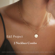 E and E PROJECT Coin Chain Silver 14K Gold Elegant Style