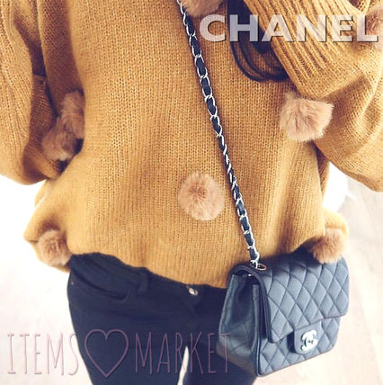 CHANEL Shoulder Bags Casual Style Unisex Lambskin 2WAY Chain Plain Shoulder Bags