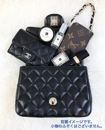 CHANEL Shoulder Bags Casual Style Unisex Lambskin 2WAY Chain Plain Shoulder Bags 3