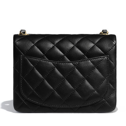 CHANEL Shoulder Bags Casual Style Unisex Lambskin 2WAY Chain Plain Shoulder Bags 4