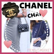 CHANEL MATELASSE Casual Style Unisex Lambskin 2WAY Chain Plain Shoulder Bags