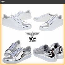 BOY LONDON Unisex Faux Fur Street Style Plain Low-Top Sneakers
