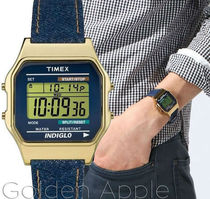 TIMEX Casual Style Square Stainless Digital Watches