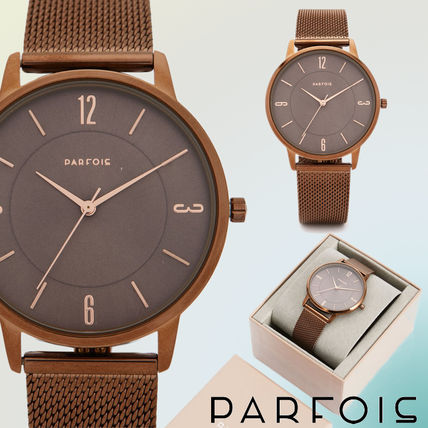 Casual Style Round Stainless Analog Watches