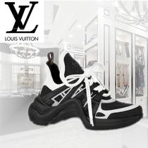 Louis Vuitton Rubber Sole Casual Style Blended Fabrics Bi-color