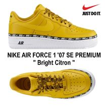 Nike AIR FORCE 1 Unisex Street Style Oversized Low-Top Sneakers
