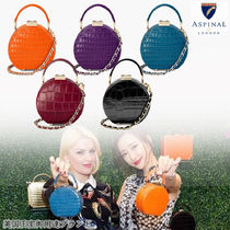 Aspinal of London 2WAY Other Animal Patterns Leather Elegant Style Handbags