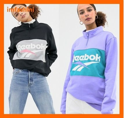 Casual Style Unisex Sweat Street Style Long Sleeves Plain