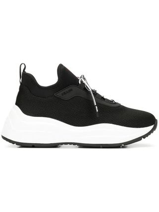 PRADA Low-Top Round Toe Rubber Sole Casual Style Plain Low-Top Sneakers 5