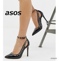 ASOS Enamel Studded Pin Heels Party Style Shoes