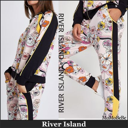 Flower Patterns Casual Style Long Sleeves Cotton Long