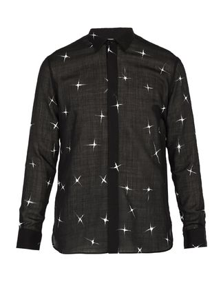 Saint Laurent Shirts Star Wool Long Sleeves Shirts