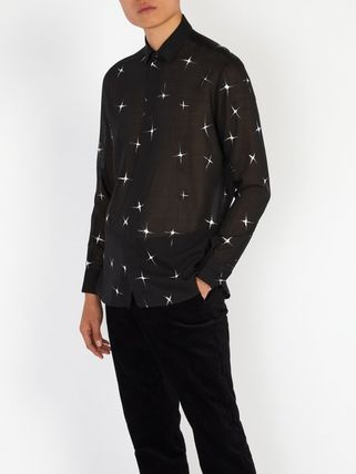 Saint Laurent Shirts Star Wool Long Sleeves Shirts 3