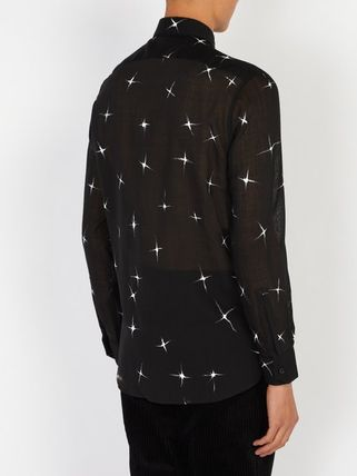 Saint Laurent Shirts Star Wool Long Sleeves Shirts 4
