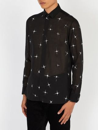Saint Laurent Shirts Star Wool Long Sleeves Shirts 5