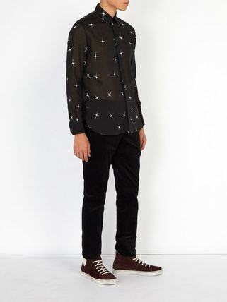 Saint Laurent Shirts Star Wool Long Sleeves Shirts 6
