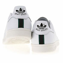 adidas STAN SMITH Stripes Unisex Blended Fabrics Street Style Plain Leather