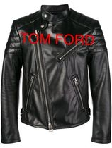 TOM FORD Blended Fabrics Leather Biker Jackets