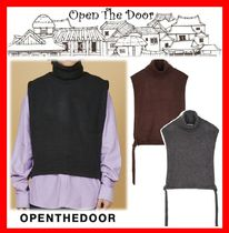 OPEN THE DOOR Casual Style Unisex Street Style Vests