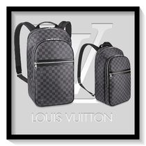 Louis Vuitton Other Check Patterns Canvas Blended Fabrics A4 Backpacks
