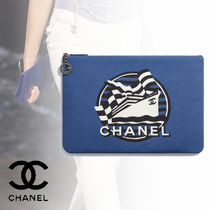 CHANEL Casual Style Street Style A4 Clutches