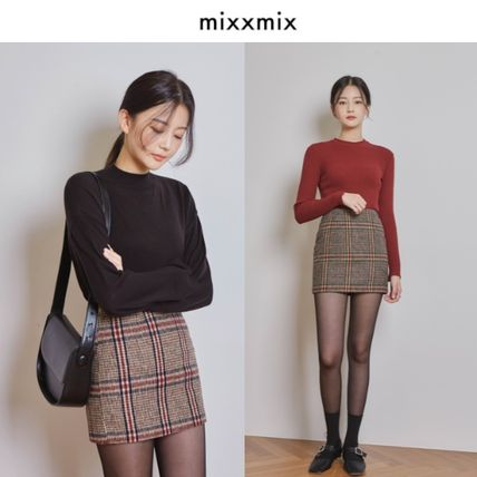 Pencil Skirts Other Check Patterns Casual Style Skirts
