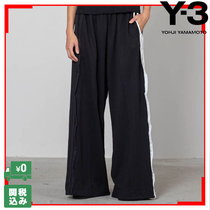 Stripes Casual Style Street Style Collaboration Plain Pants