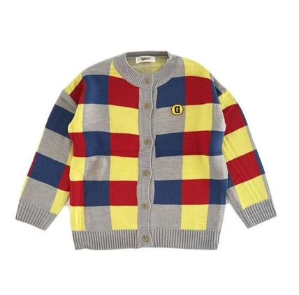 Other Check Patterns Casual Style Long Sleeves Cardigans