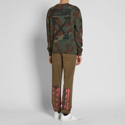 Off-White Sweatshirts Crew Neck Camouflage Street Style Long Sleeves Cotton 10