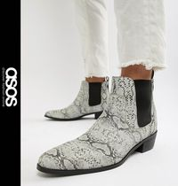 ASOS Leather Chelsea Boots Python Chelsea Boots
