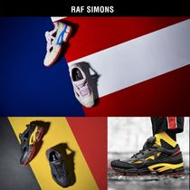 RAF SIMONS Ozweego Unisex Street Style Collaboration Plain Leather Sneakers
