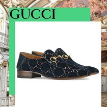 GUCCI Monogram Moccasin Loafers & Slip-ons