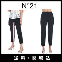 N21 numero ventuno Stripes Office Style Cropped & Capris Pants