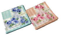 Laura Ashley Stripes Flower Patterns Handkerchief