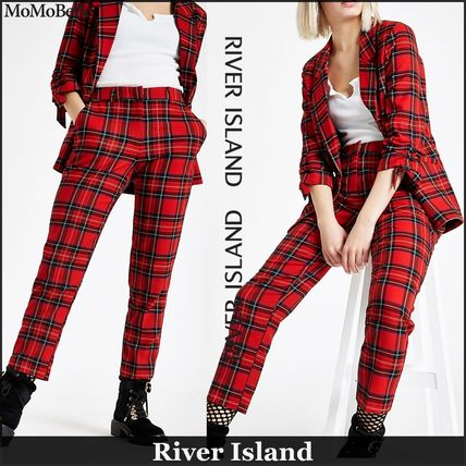 Tartan Casual Style Cropped Long Dresses