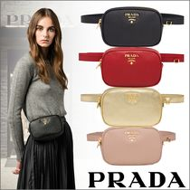 PRADA 2WAY Chain Leather Shoulder Bags
