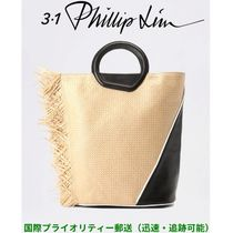 3.1 Phillip Lim Casual Style Blended Fabrics A4 Leather Fringes Oversized