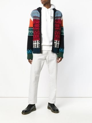 sacai Hoodies Long Sleeves Plain Cotton Hoodies 7