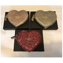 Coach Heart Chain Leather Coin Purses