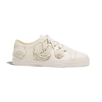 CHANEL Low-Top Casual Style Street Style Plain Leather Low-Top Sneakers 5