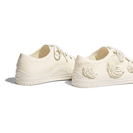 CHANEL Low-Top Casual Style Street Style Plain Leather Low-Top Sneakers 7