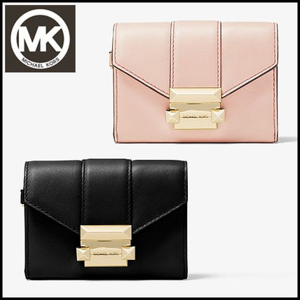 062f924eb1fa ... Michael Kors Card Holders Whitney Small Leather Chain Wallet ...