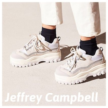 Platform Round Toe Casual Style Street Style Collaboration