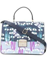 FURLA Flower Patterns Street Style Leather Elegant Style Handbags