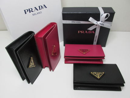 PRADA Coin Purses Saffiano Coin Purses