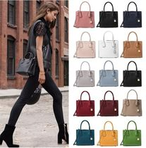 Michael Kors MERCER Street Style 2WAY Plain Leather Elegant Style Shoulder Bags
