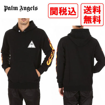 Palm Angels Hoodies Street Style Long Sleeves Cotton Hoodies