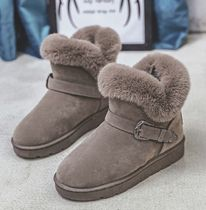 Round Toe Suede Elegant Style Ankle & Booties Boots