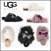 UGG Australia CLASSIC Round Toe Casual Style Fur Plain Loafer Pumps & Mules