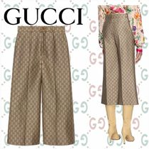 GUCCI Blended Fabrics Cotton Medium Elegant Style